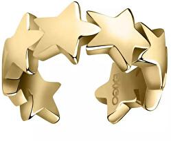 Pozlacená navlékací single náušnice s hvězdičkami LPS02ARQ164