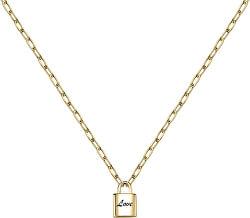 Aranyozott nyaklánc lakattalLove LPS10ASD04