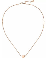 Romantický bronzový náhrdelník s kryštálom Love LPS10ASD06