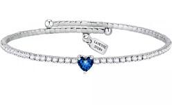 Romantický náramek s modrým srdíčkem Love LPS05ASD21
