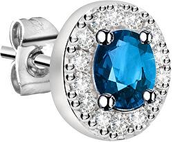 Single náušnice s modrým středem LPS02ARQ15