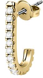 Single půlkruhová náušnice s krystaly LPS02ARQ148