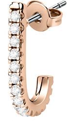 Single félkör alakú fülbevaló kristályokkal LPS02ARQ149 - 1 db