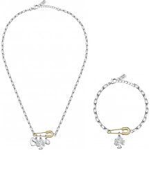 Zvýhodnená oceľová sada šperkov Family (náramok, náhrdelník)