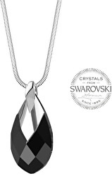 Dámsky náhrdelník s čiernym kryštálom Pear Metcap