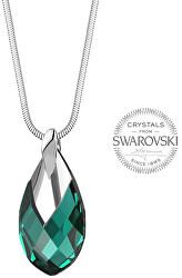 Dámsky náhrdelník sa smaragdovým kryštálom Pear Metcap