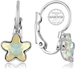 Dievčenské náušnice s dúhovým kryštálom STARBLOOM