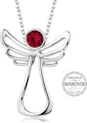 Náhrdelník s červeným krystalem Guardian Angel