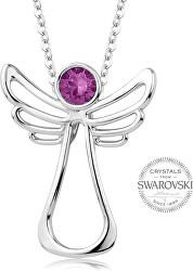 Náhrdelník s fuchsiovým krystalem Guardian Angel