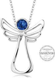 Náhrdelník s tmavě modrým krystalem Guardian Angel