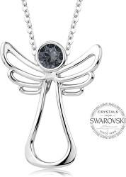 Náhrdelník s tmavým krystalem Guardian Angel
