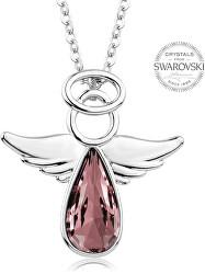 Náhrdelník se starorůžovým krystalem Angel Rafael