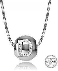 Oceľový náhrdelník písmeno D Cleto-D