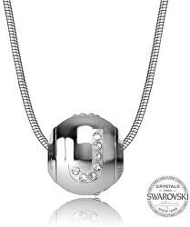 Oceľový náhrdelník písmeno J Cleto-J