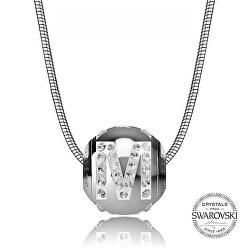 Oceľový náhrdelník písmeno M Cleto-M