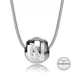Oceľový náhrdelník písmeno N Cleto-N