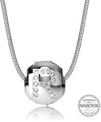 Oceľový náhrdelník písmeno R Cleto-R