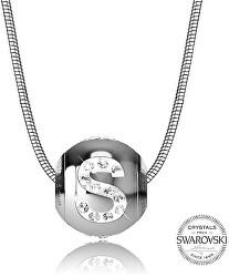 Oceľový náhrdelník písmeno S Cleto-S