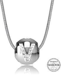 Oceľový náhrdelník písmeno V Cleto-V