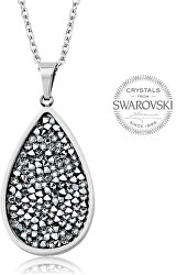 Očarujúce náhrdelník s kryštálmi SS Rocks Pear 24 crystal