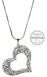 Trblietavý náhrdelník Srdce so sypanými kryštály