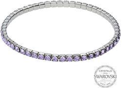 Třpytivý náramek s fialovými krystaly 1459609