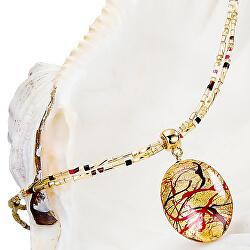 Elegantný dámsky náhrdelník My Roots s perlou Lampglas s 24 karátovým zlatom NP15