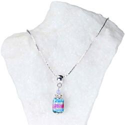 Elegantní dámský náhrdelník Vivienne s perlou Lampglas s ryzím stříbrem NSA22