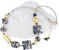 Honosný náhrdelník Egyptian Goddess s 24karátovým zlatem v perlách Lampglas NRO4