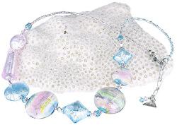 Půvabný náhrdelník Pastel Dream s ryzím stříbrem v perlách Lampglas NRO8