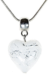 Elegantní náhrdelník Pearl Symphony s perlou Lampglas s ryzím stříbrem NLH2