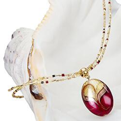 Elegantní náhrdelník Red Sea s perlou Lampglas s 24karátovým zlatem NP25