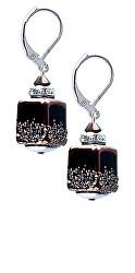 Elegantní náušnice Clear Night z perel Lampglas ECU25