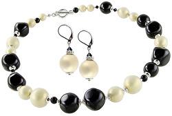 Elegantní souprava šperků Ultimate Beauty z perel Lampglas CQ1 (náhrdelník, náušnice)