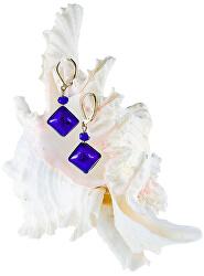Fascinující náušnice Gold Blue s ryzím stříbrem v perlách Lampglas ERO5