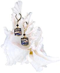 Honosné náušnice Egyptian Goddess s 24karátovým zlatem v perlách Lampglas ERO4