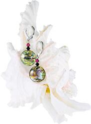 Hravé náušnice Sweet Candy s 24karátovým zlatem a ryzím stříbrem v perlách Lampglas ERO3