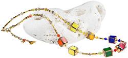 Hravý náhrdelník Summer Meadow z perel Lampglas NCU16
