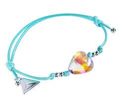 Hravý náramek Turquoise Candy s 24karátovým zlatem v perle Lampglas BLH16