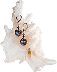 Jedinečné náušnice Egyptian Romance s 24karátovým zlatem v perlách Lampglas EER1