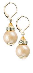 Jemné náušnice Warm Touch z perel Lampglas ECU29