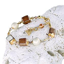 Jemný náhrdelník Sweet Cream z perel Lampglas BCU23