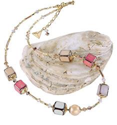 Jemný náhrdelník Warm Touch z perel Lampglas NCU29