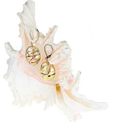 Krásné náušnice Romantic Roots z perel Lampglas s 24karátovým zlatem EP13