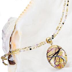 Krásný náhrdelník pro ženy Romantic Roots s perlou Lampglas s 24karátovým zlatem NP13