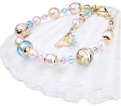 Krásný náramek Romantic Roots s perlami Lampglas s 24karátovým zlatem BP13