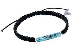 Brățară frumoasă pentru parteneri Shamballa Turquoise Love cu argint pur în perla Lampglas BSHX8