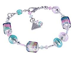 Lákavý náramek Sweet Cubes s ryzím stříbrem v perlách Lampglas BCU22