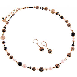 Luxusní souprava šperků z perel Lampglas Frozen Berries SET X1 (náhrdelník, náušnice)