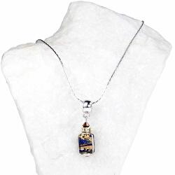 Mimořádný dámský náhrdelník Queen of the Night s 24karátovým zlatem v perle Lampglas NSA5